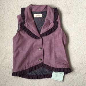 Girls Persnickety Ruffled Vest NWT 4